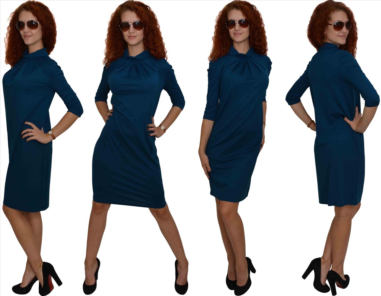 Платье сине
