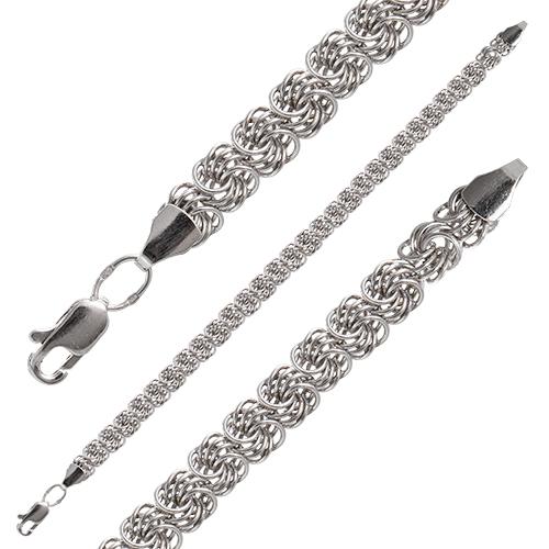 Плетение браслетов из серебра роза