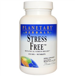Planetary Herbals, Stress Free, Botanical Stress Relief, 810 mg, 90 Tablets